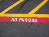 Parking lot - no parking