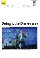 the national thumbnail - Doing it the Disney Way