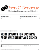 Lessons from Walt Disney