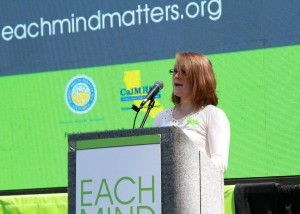 Amanda Lipp at California Capitol at an Each Mind Matters