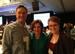 Doug and Amanda with CEO of NAMI (Nat'l Alliance on Mental Illness)